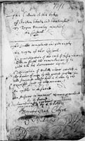 Manuscript written by Josiah Collier (1595-1677),