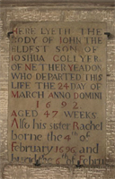 Gravestone in Guiseley Church