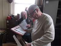 Alan Shaw and Howard German, Archive Room, Yeadon Town Hall September 2014